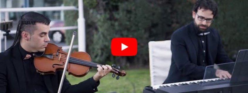 Dúo de violín y piano Música para Ceremonia de Boda Civil y Cóctel en Hotel Azar