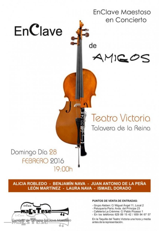 """1ª Edición Concierto """"EnClave de Amigos"""" en Teatro Victoria - 28 Febrero 2016"""