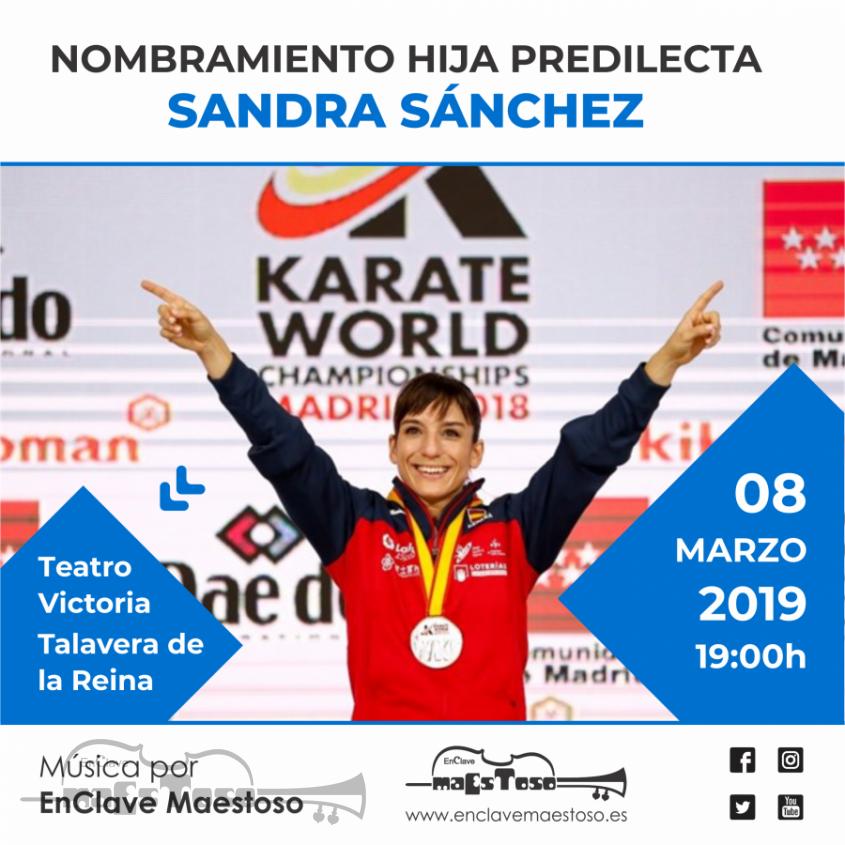 Acto de Nomrbramiento Hija Predilecta de Talavera a la Karateca Sandra Sanchez
