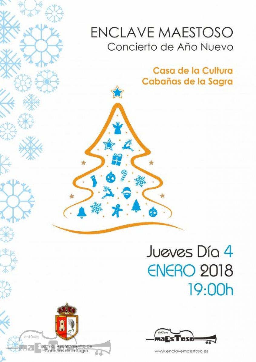Concierto de Año Nuevo 2018 en la Casa de la Cultura de Cabañas de la Sagra