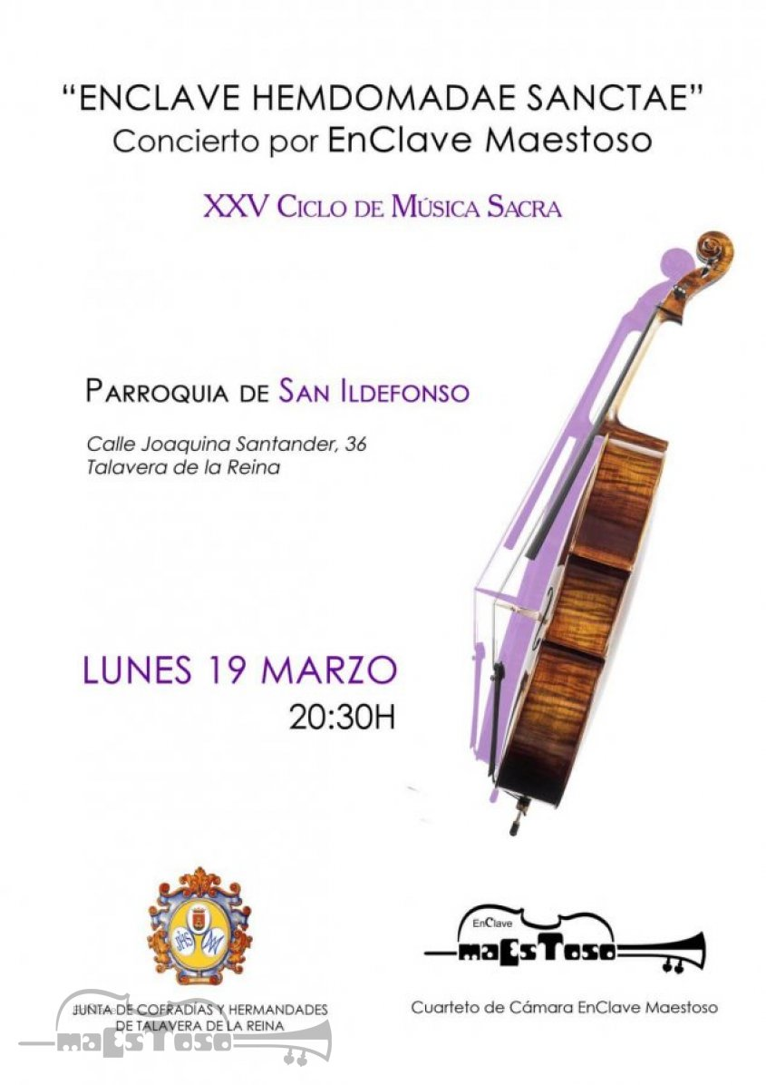 Concierto de Apertura del XXV Ciclo de Música Sacra de Talavera 2018