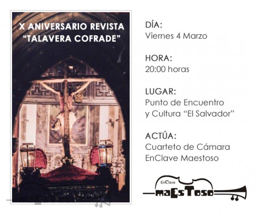 Concierto en el X Aniversario de la Revista Talavera Cofrade