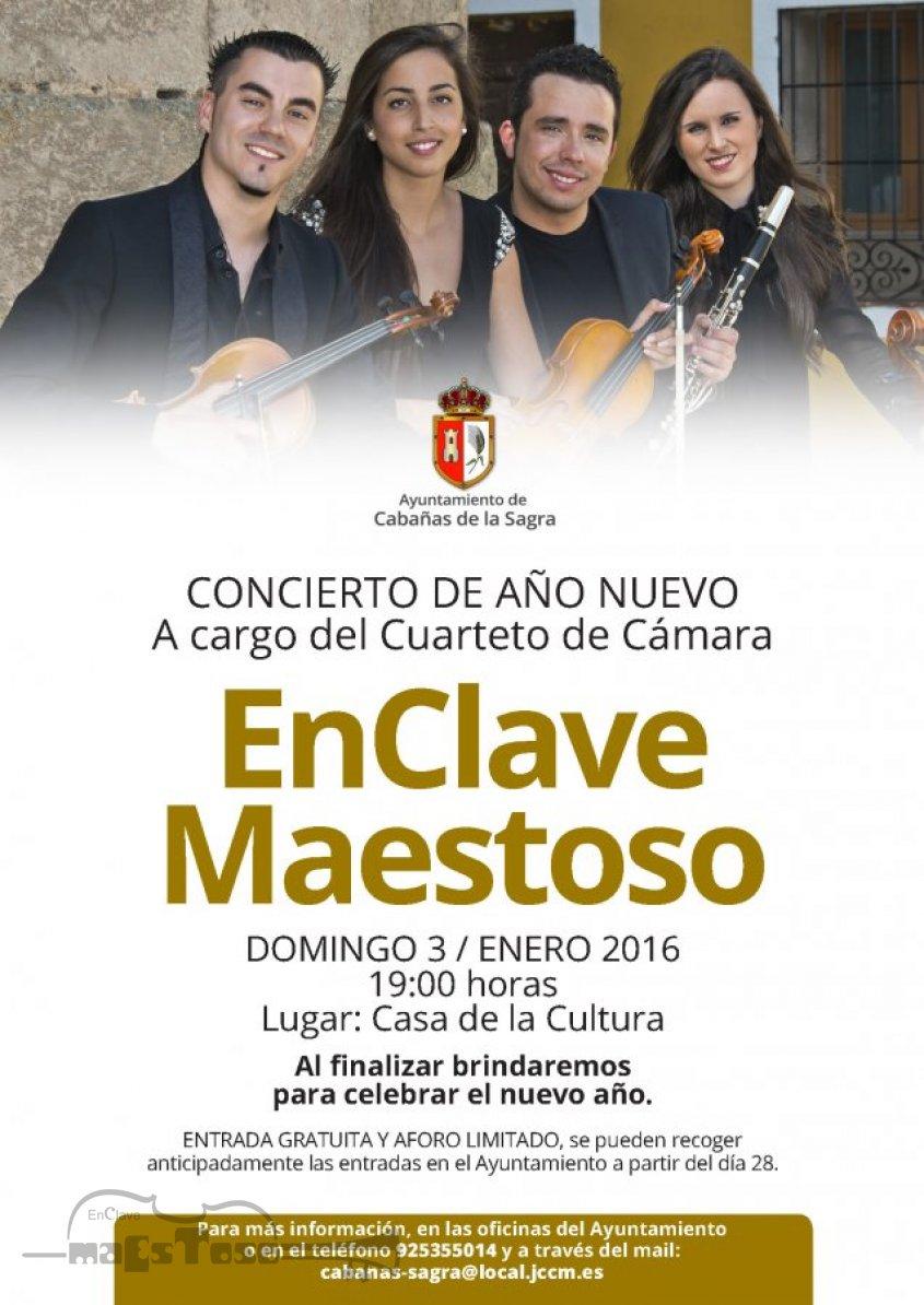 Concierto de EnClave Maestoso en La Casa de Cultura de Cabañas de la Sagra Enero 2016