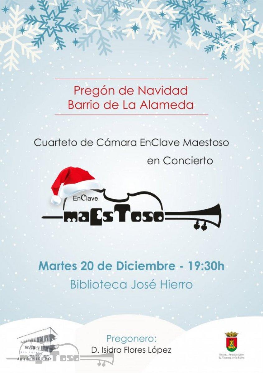 Concierto Pregón de Navidad Barrio de la Alameda el 20 de Diciembre de 2016