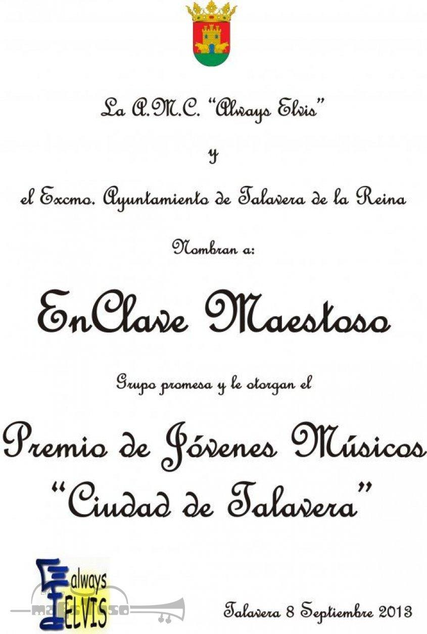 """EnClave Maestoso Premio de Jóvenes Músicos """"Ciudad de Talavera"""""""