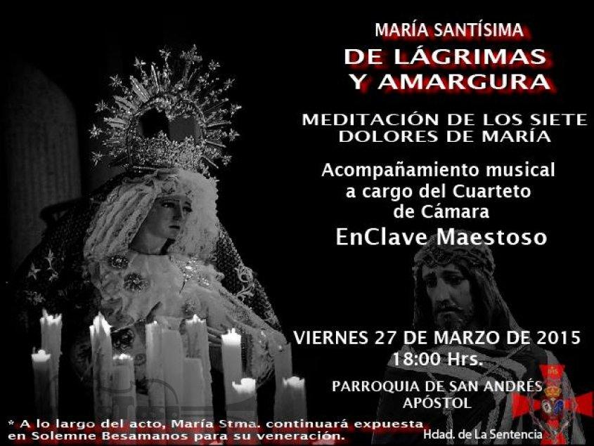 Meditación de los Siete Dolores de María en San Andrés con música de EnClave Maestoso