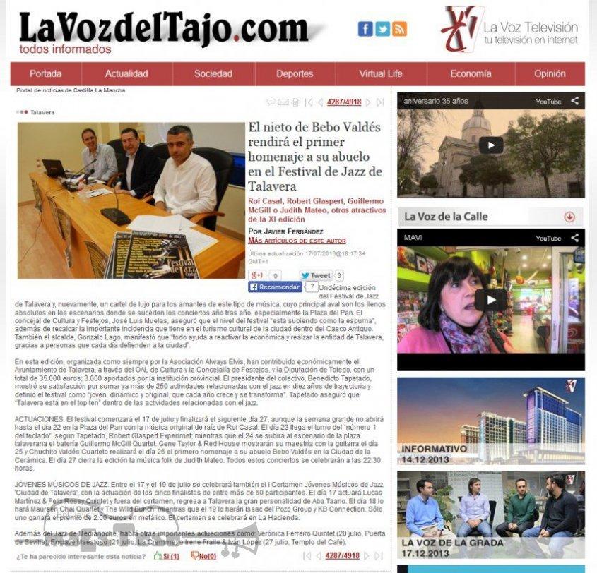 El Nieto de Bebo Valdés Rendirá el Primer Homenaje a su Abuelo en el Festival de Jazz