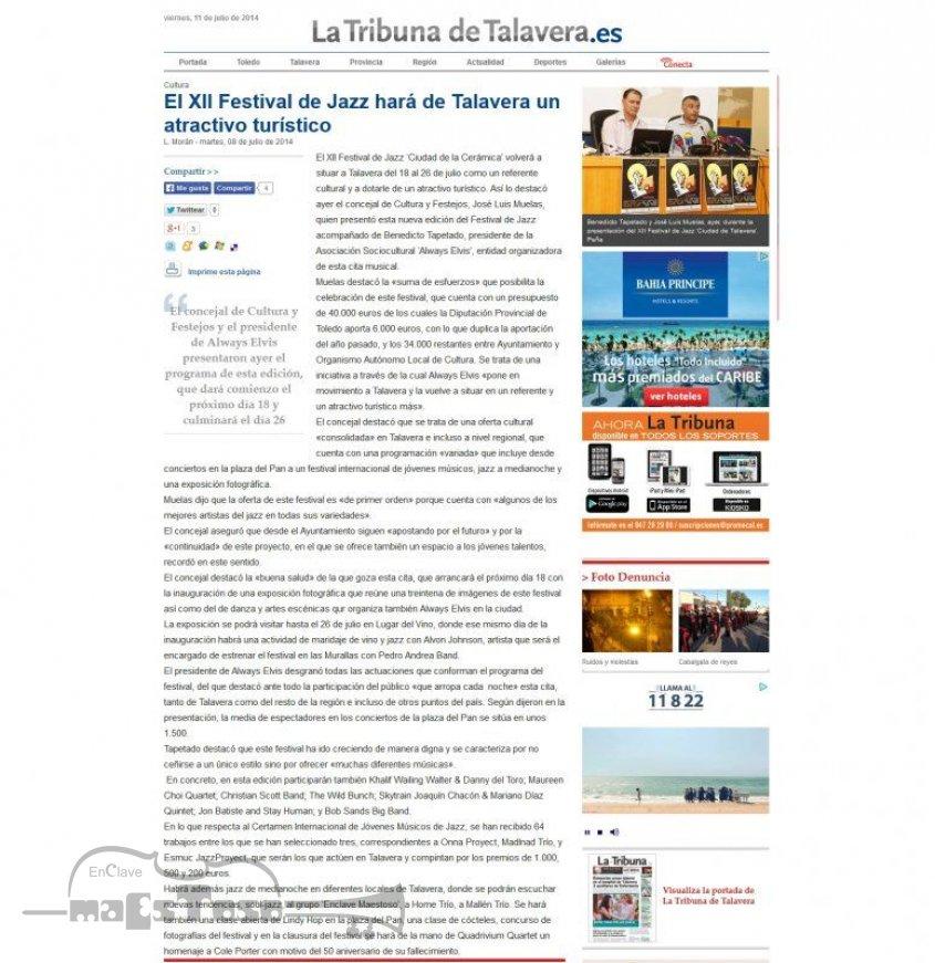 El XII Festival de Jazz Hará de Talavera un Atractivo Turístico