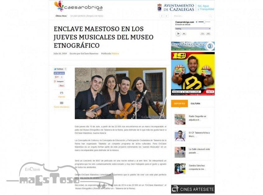 EnClave Maestoso en los jueves musicales del Museo Etnográfico