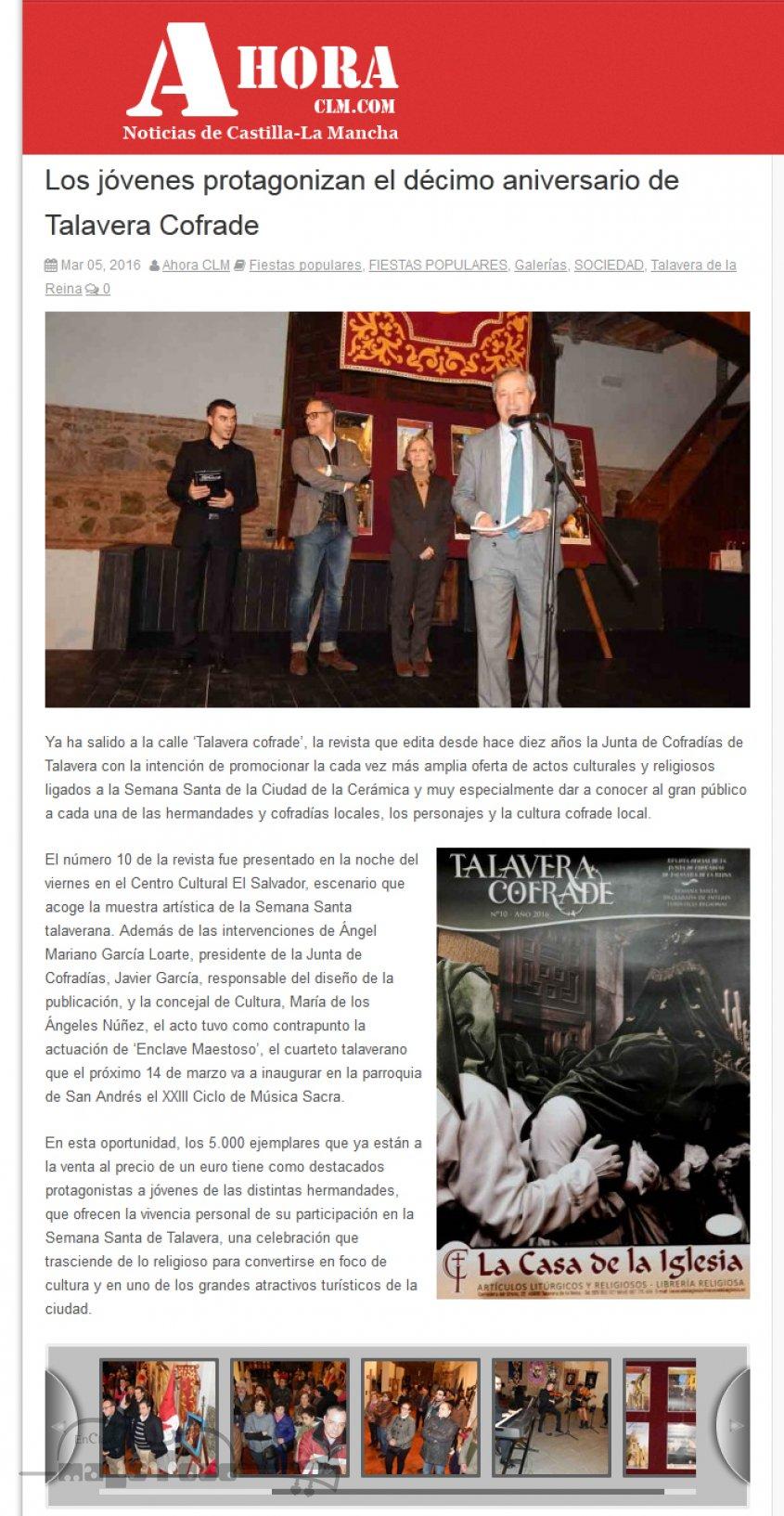 Los jóvenes protagonizan el décimo aniversario de Talavera Cofrade