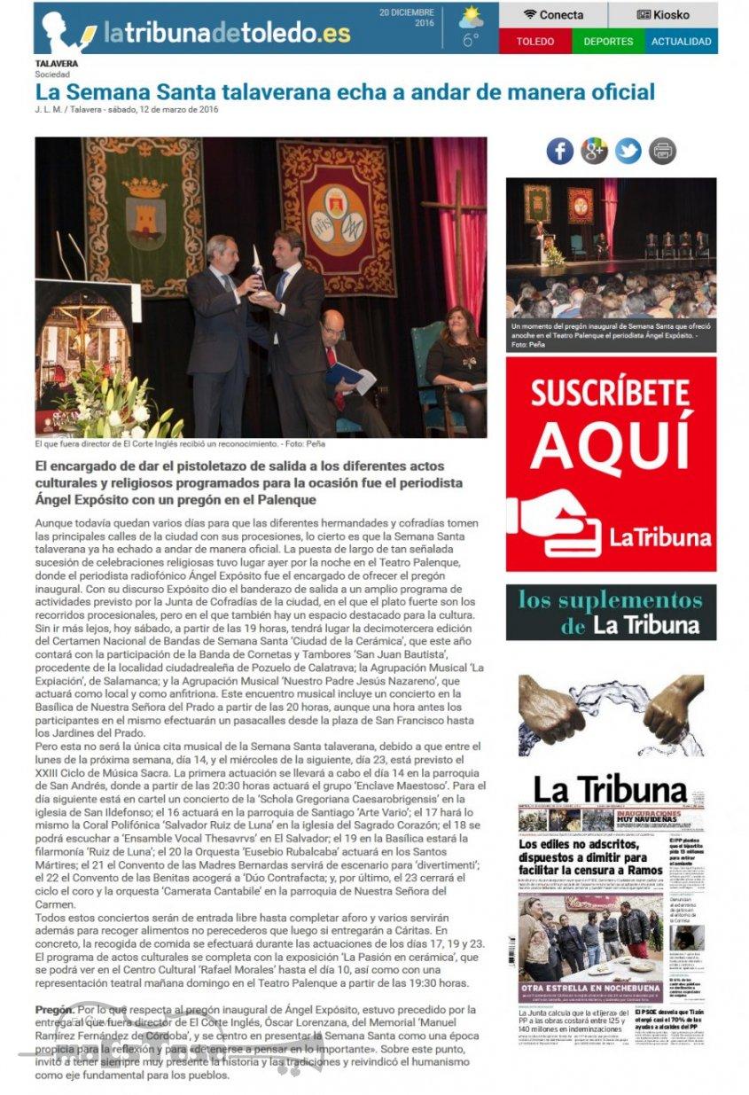 La Semana Santa talaverana echa a andar de manera oficial