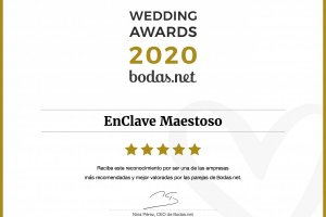EnClave Maestoso recibe un Wedding Awards 2020 de Bodas.net