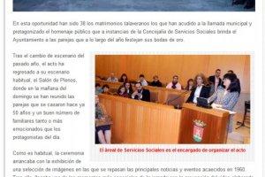 El Ayuntamiento de Talavera homenajea a 38 parejas en sus bodas de oro