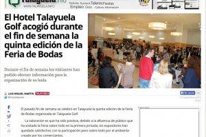 El Hotel Talayuela Golf acogió durante el fin de semana la 5ª Feria de Bodas