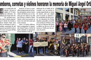 Tambores, Cornetas y Violines honraron la Memoria de Miguel Ángel Ortiz